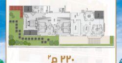 شقة أرضي 220م بمنطقه اللوتس بالتجمع الخامس